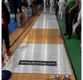 Фехтовальная дорожка Artos FIE 17 х 1,5 м, алюминиевая
