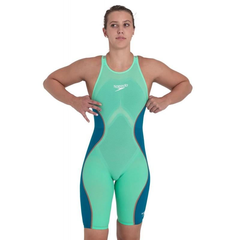 Женский гидрокостюм Speedo Fastskin LZR Pure Intent Openback Зеленый